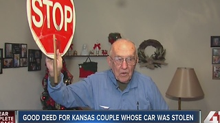 Stranger gifts grandfather new car after theft - Video