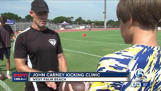 John Carney Kicking Clinic - Video