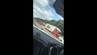Motorists stranded on M1 after fatal crash - Video