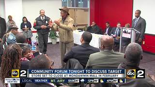 Forum to discuss closing of Mondawmin Mall Target - Video