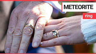 Couple create wedding rings made out of meteorite - Video