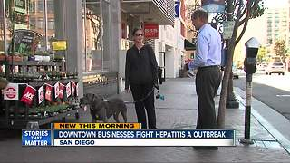 Downtown businesses fight hepatitis A outbreak - Video