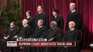 U.S. Supreme Court reinstates travel ban