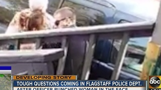 Investigation continues after Flagstaff officer recorded punching woman in face - Video