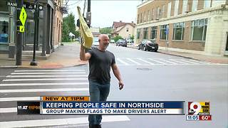 Northside residents force drivers to notice them - Video