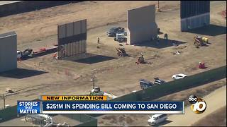 San Diego getting $251 million for border in new spending bill