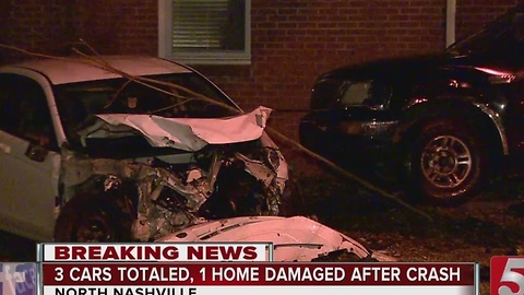2 Wanted After Crashing Into Parked Cars