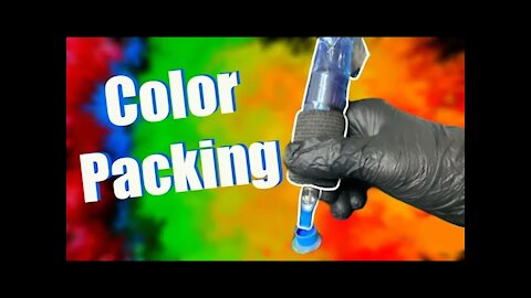✅How to PACK COLOR WITH A MAG NEEDLE ❗❗ For Beginners ❗❗