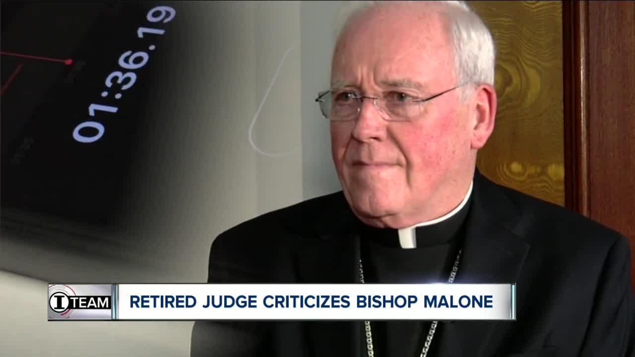 Retired State Supreme Court judge has strong words for Bishop Malone