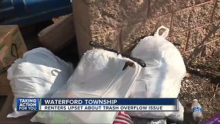 Renters upset about trash overflow issue - Video