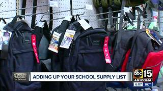 A closer look at the cost of school supplies - Video