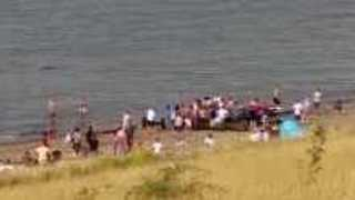 Small Aircraft Lands on Water During Herne Bay Airshow - Video
