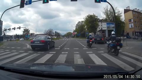 Reckless Driver Gets Instant Karma For Ignoring Pedestrian Crossing