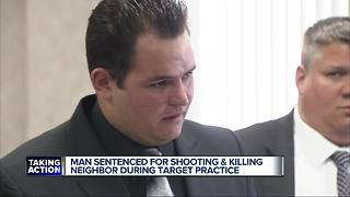 Man sentenced for shooting and killing neighbor during target practice - Video