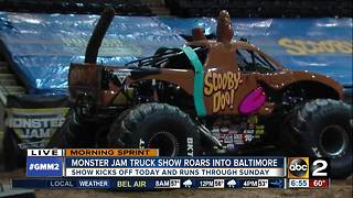 Monster Jam Truck Show roars into Baltimore - Video