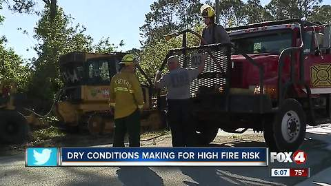 Southwest Florida is at a high risk for fires