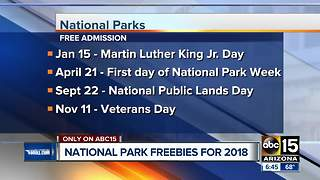 National Park freebies for 2028