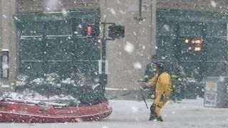 Lifeboats Deployed in Rescue Operation Along Frozen Boston Streets - Video