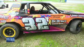 Teenage race car driver dedicating season to helping children with cancer - Video