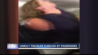 Unruly traveler subdued by passengers on Boise-bound United flight - Video