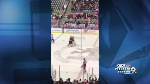 Wildcat win over Sun Devils highlighted by goalie fight