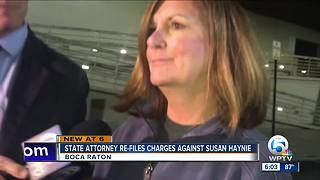 State attorney re-files charges against suspended Boca Raton Mayor Susan Haynie