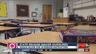State releases waiver that would allow for in-person instruction