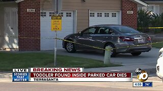 2-year-old girl found dead in parked car