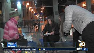 Volunteers count San Diego's homeless population - Video