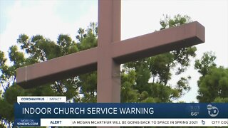 County warns local churches about indoor services