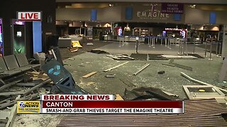 Smash and grab thieves target Canton Emagine theatre