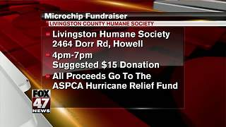 Humane Society of Livingston County hosts microchip fundraiser - Video