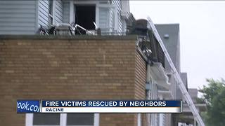 Neighbor rescues 3 after explosion, fire at Racine home - Video