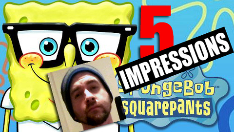Speed impressionist does 5 SpongeBob voices in 15 seconds