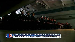 Tulsa welcomes 20 new officers - Video