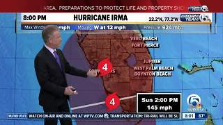 Category 4 Hurricane Irma's winds remain at 155 mph - Video