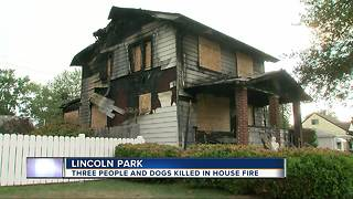 Three people killed in Lincoln Park house fire