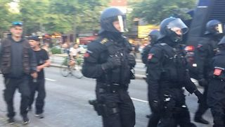 Hamburg Protesters Met With Heavy Police Presence - Video