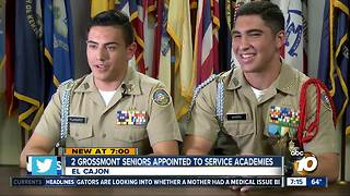 Two San Diego NJROTC cadets earn multiple service academy appointments - Video