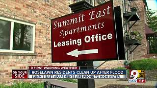 Roselawn neighbors clean up after flooding - Video