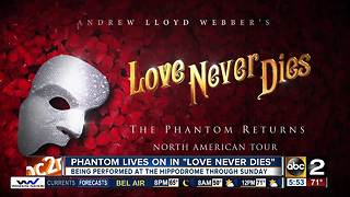 'Love Never Dies' comes to the The Hippodrome - Video