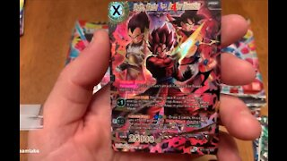 Opening up TONS of Vermilion Bloodline Booster Packs! Dragon Ball Super TCG