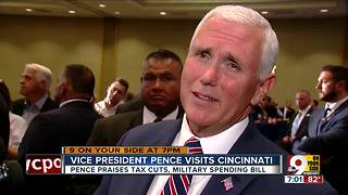 Vice President Pence visits Cincinnati - Video
