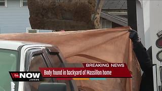 Body of man found buried in backyard of Massillon home - Video