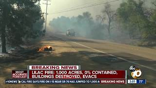 Man tries to save property from Lilac Fire