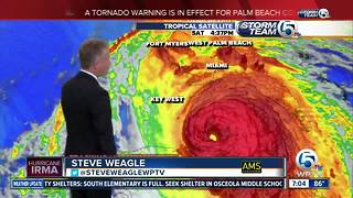 7 p.m. update: Category 3 Hurricane Irma's winds remain at 125 mph - Video