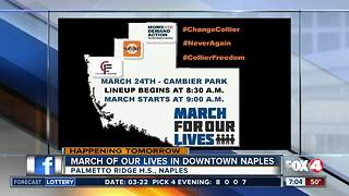 Students planning to march in downtown Naples Saturday - Video