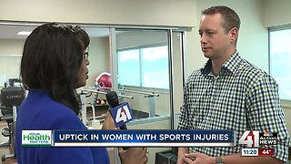 Uptick in women with sports injuries