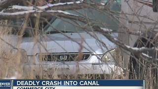 1 dead after vehicle rolls, lands in canal in Commerce City - Video