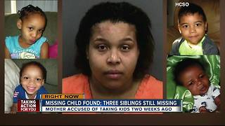 One child found, three still missing after mother reportedly takes them from day care 2 weeks ago - Video